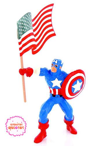 Capitão América c/Bandeira PVC