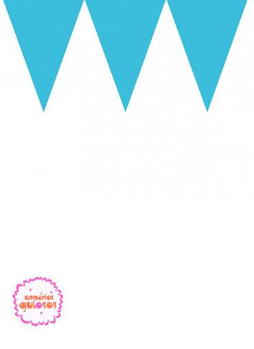 Bandeirinhas Triangulares Azuis