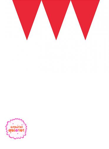Bandeirinhas Triangulares Vermelho