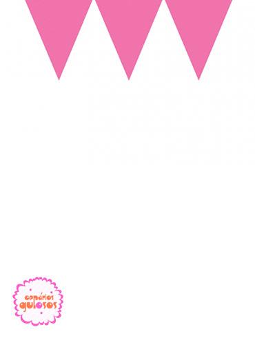 Bandeirinhas Triangulares Rosa