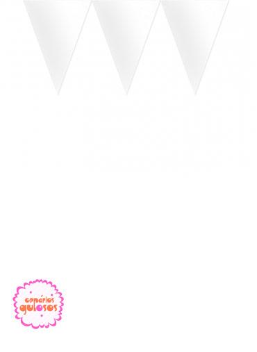 Bandeirinhas Triangulares Brancas