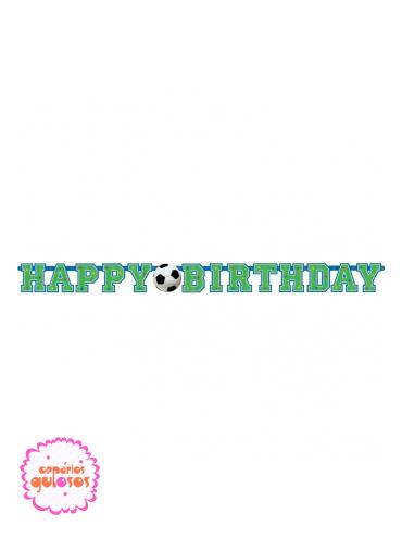 Faixa Happy Birthday Futebol