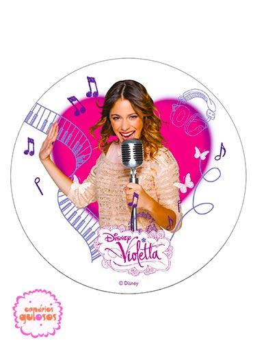 Hóstia redonda Violetta