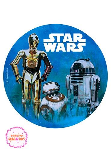 Hóstia redonda Star Wars