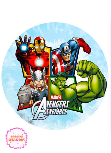 Hóstia redonda Avengers