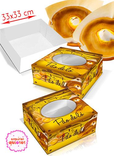 Caixa Pão de ló 33*33cm