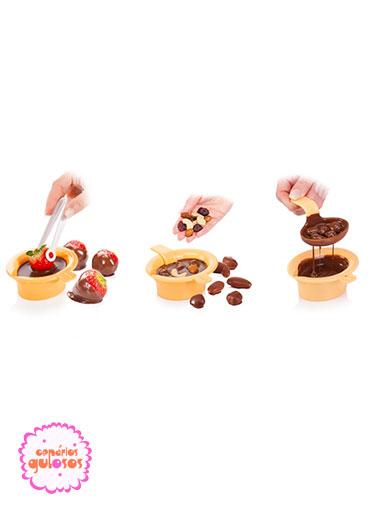 Utensílio para derreter chocolate