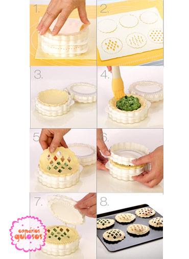 Forma para pastéis recheados