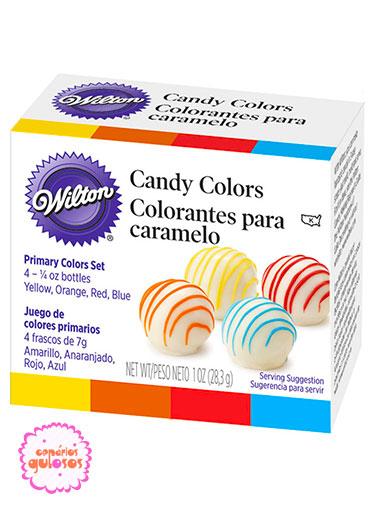 Corantes para Chocolate Wilton - 4 cores