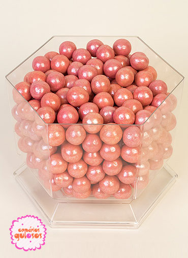 Bolas Crocantes grandes Rosa 100gr