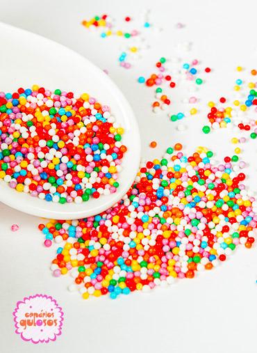 Bolinhas Açúcar Cores Sortidas 90gr