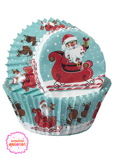 Formas Papel Cupcake Pai Natal Wilton - 75 unds