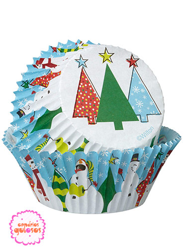 Formas Papel Cupcake Árvore Natal Wilton - 75 unds