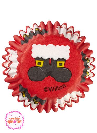 Formas Papel Mini Cupcake Natal Wilton - 100unds