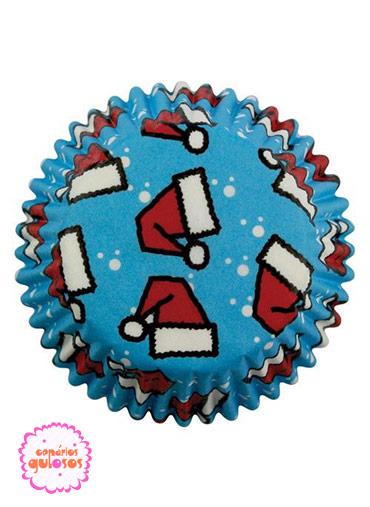 Formas Papel Cupcake Gorros Natal PME - 60unds