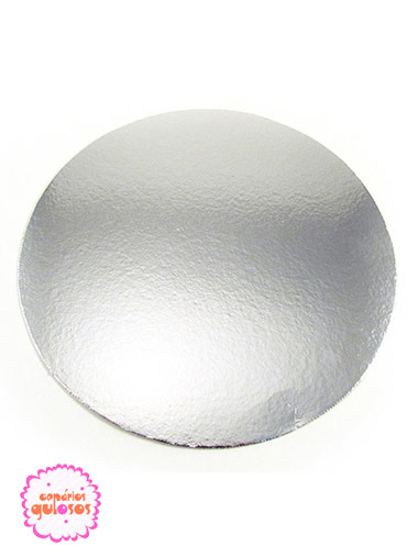 Disco Prata liso 22cm