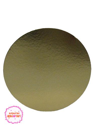 Disco Ouro liso 26cm