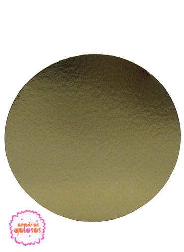 Disco Ouro liso 22cm
