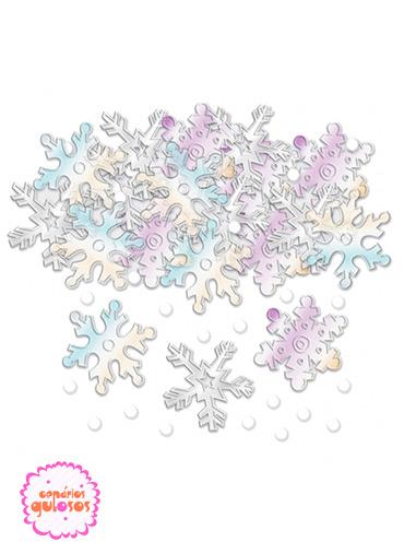 Confettis PVC Flocos Neve