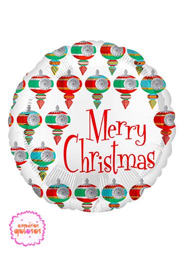 Balão Foil Merry Christmas 45cm