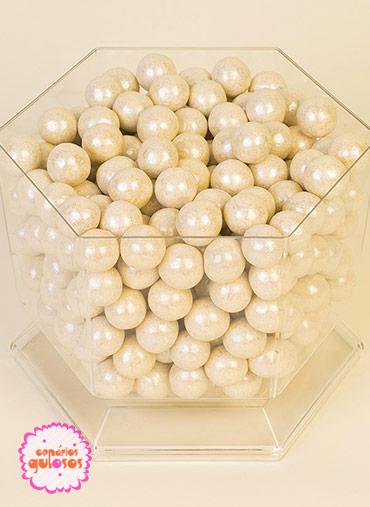 Bolas Crocantes Grandes Brancas - 100gr