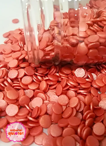 Confettis Redondos Vermelho Perolado 70gr
