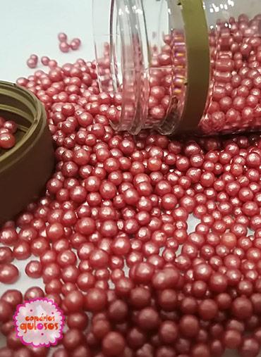 Pérolas Vermelhos Perolados S 70gr