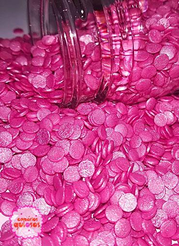 Confettis Rosa Forte Perolados 70gr