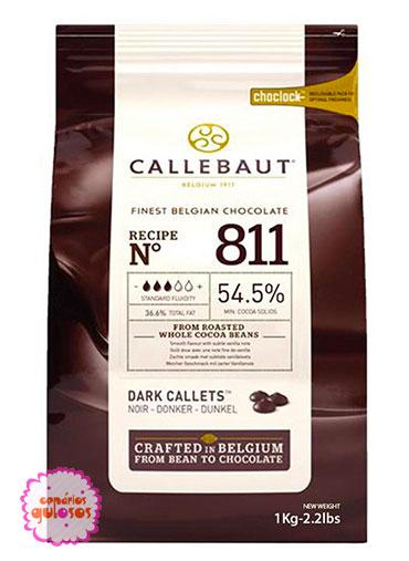 Pastilha Chocolate Puro Negro Callebaut 1kg