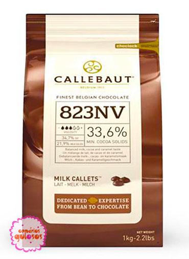 Pastilha Chocolate Puro Leite Callebaut 1kg