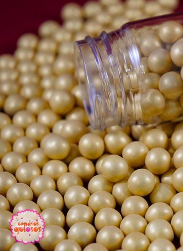 Pérolas Chocolate Douradas 70gr