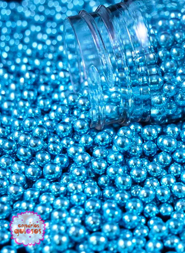 Pérolas Metalizadas Azuis S 70gr