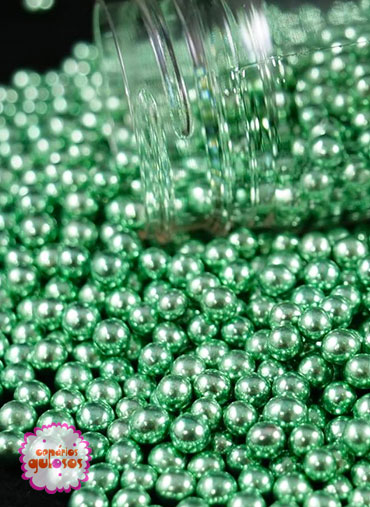 Pérolas Metalizadas Verdes S 70gr