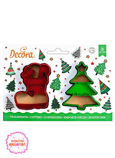 Cortantes Bota e Árvore Natal Relevo