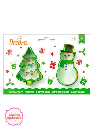 Cortantes Boneco Neve e Árvore Natal