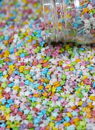 Confettis Estrelas coloridas Pequenas 70gr