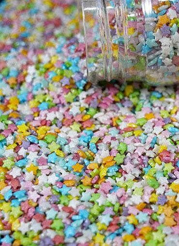 Confettis Estrelas coloridas Pequenas Kg