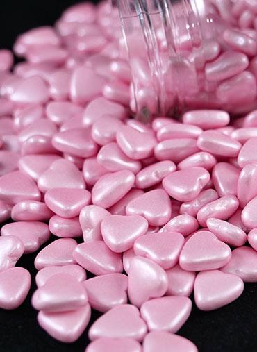 Confettis Corações Rosa kg
