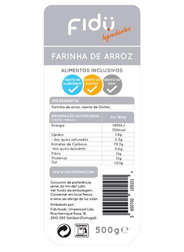 Farinha de Arroz 500gr - Isenta Glúten