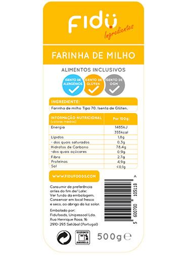 Farinha de Milho 500gr - Isenta Glúten