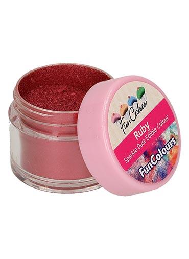 Purpurina Alimentar Vermelho Ruby  - 3.5gr
