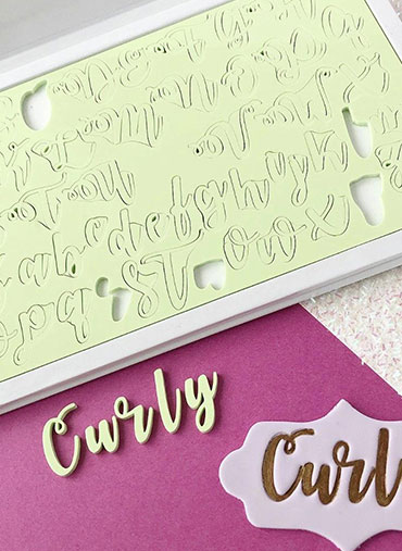 Sweet Stamp - Conj. Letras Maiús.Minús. CURLY