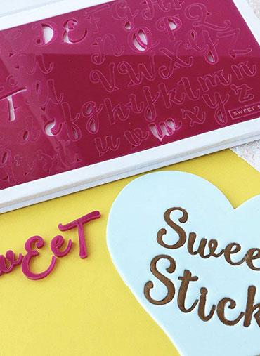Sweet Stamp - Conj. Letras Maiús.Minús. SWEET