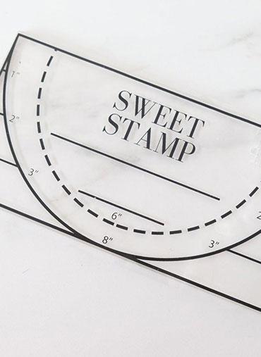 Régua Carimbo Sweet Stamp - 20x11cm