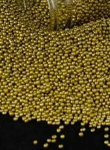 Missangas Douradas 70gr