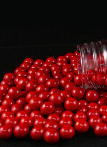 Pérolas Chocolate Vermelhas 70gr