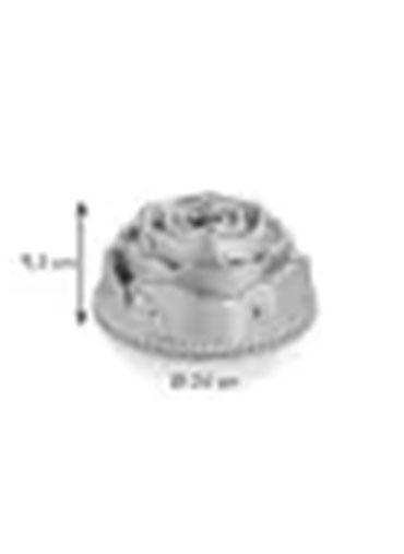 Forma metal alta Rosa 24cm
