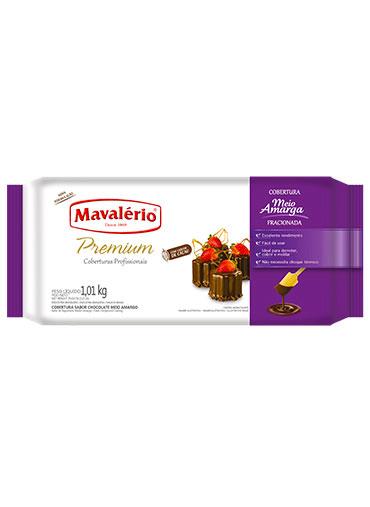 Barra Chocolate Meio Amargo Fracionado Mavalério 1.01Kg